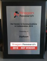 ZiipRoom Receives Hot Vendor Award from Aragon Research